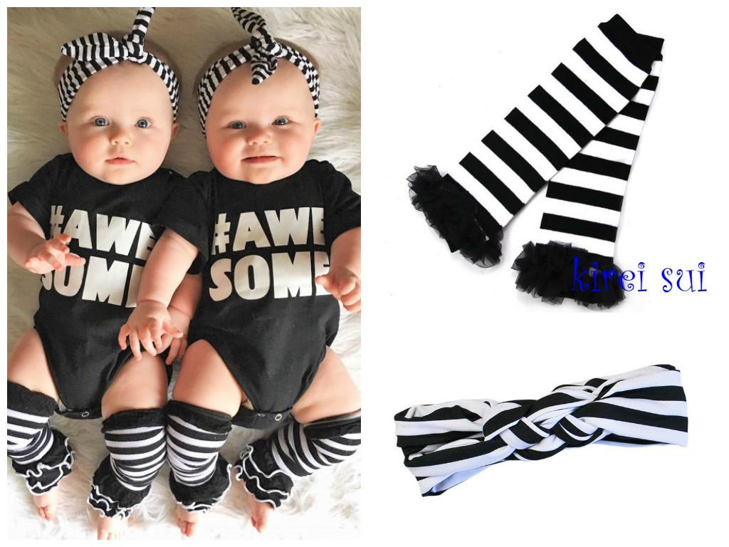 Tweeling kleding zwart wit