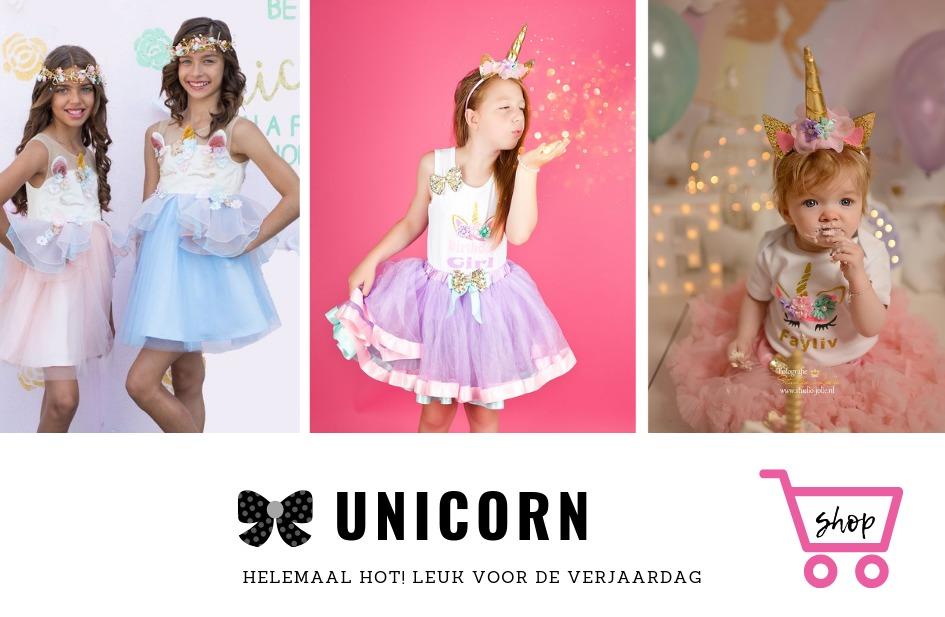 unicorn-eenhoorn-verjaardagjurken-verjaardag-kleding-setjes-1-jaar-baby-cakesmash