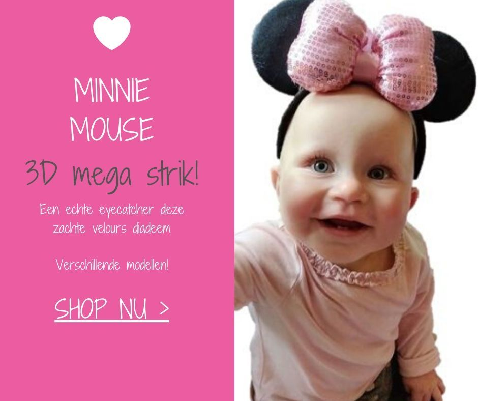 Minnie-Mouse-diadeem-rood-roze-strik-glitters-stippen-oren-haarbanden