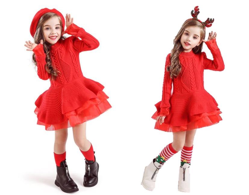 jurken-kerst-kinderen-gebreid-rood