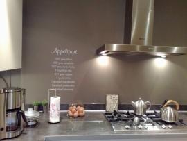 Mooie appeltaart keukensticker!