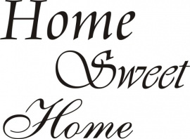 Home Sweet Home (3 lettertypes)