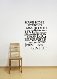 Have hope be strong