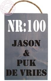 P101 Steigerbord  Voordeur Namen Huisnummer