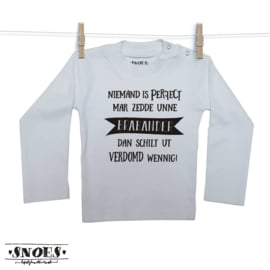 Niemand perfect Brabander shirt Snoes Lifestyle