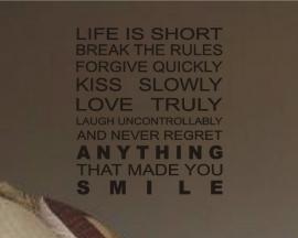 Life is short Modern