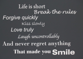 Life is short New