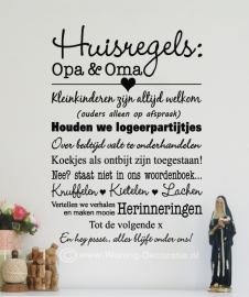 Huisregels Opa en Oma 1