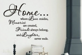 Home... where love resides