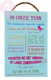 S565 Steigerhout tekstbord Color Tuinregels