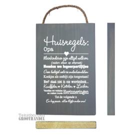 S189 Huisregels Opa