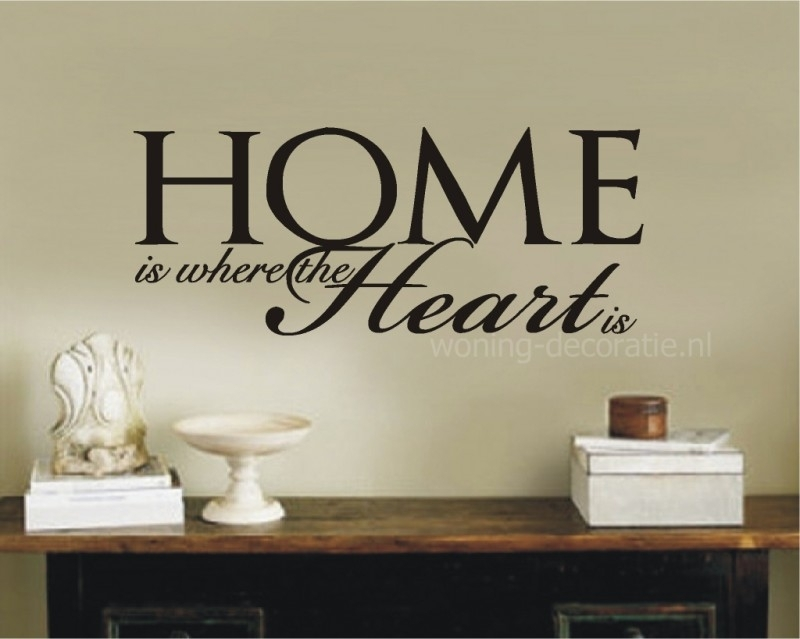 Muursticker Home Sweet Home.Home Is Where The Heart Is 3 Lettertypes Muurstickers