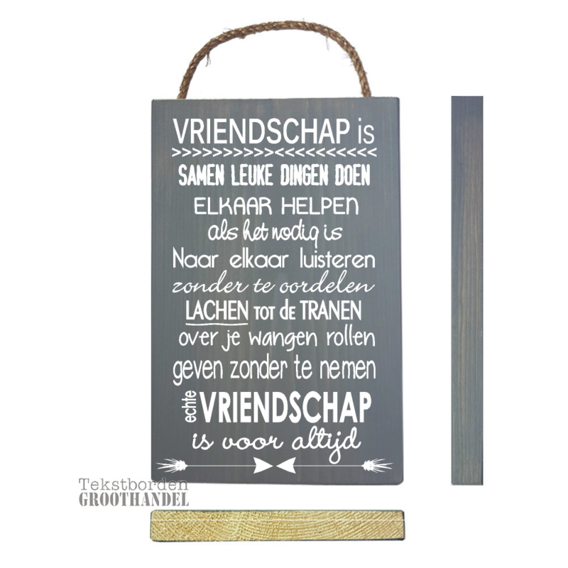 S132 Steigerhout tekstbord Vriendschap 3