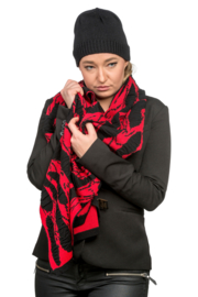 Shawl Tiles red / black