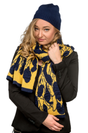 Shawl Tiles yellow / dark blue