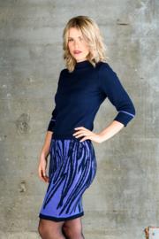 Dames rok Leaves  lichtblauw / donkerblauw