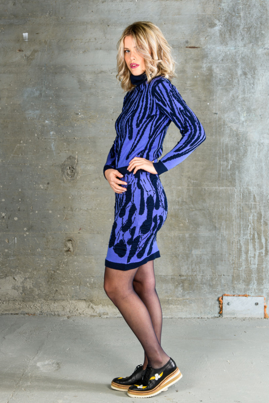 Dames rok Tiles lichtblauw / donkerblauw