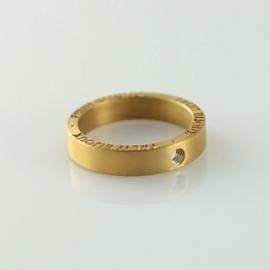 Fruit Bijoux ring breed goudkleurig