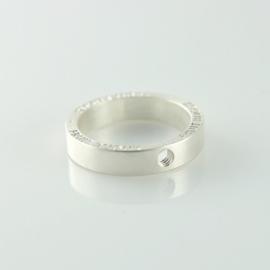 Fruit Bijoux ring breed zilver