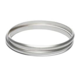 Elegante gedraaide armband, bolle buitenkant, zilver
