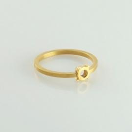Fruit Bijoux ring smal goudkleurig