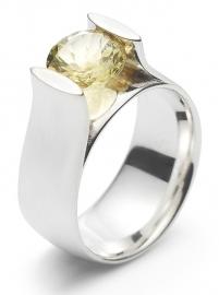 Zilveren ring met Lemonquarts