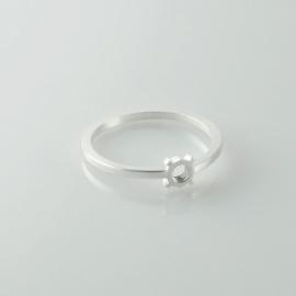 Fruit Bijoux ring smal zilver