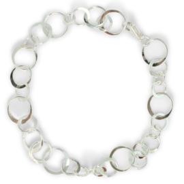 Speelse oogjes armband, zilver