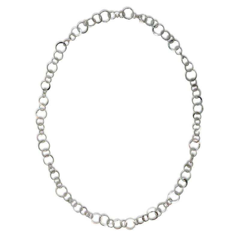 Speels oogjes collier, zilver