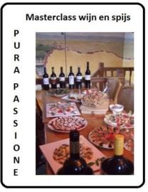 Voucher Masterclass 6 wijnen, leer over de wijnbouw - en de wijn- spijs combinaties.