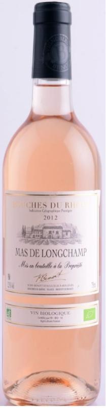 Rosé, Mas de Longchamp, Vignobles Benoit, Les Bouches du Rhône, Provence, BIO - France