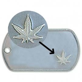 Id-plaatje met cannabis symbool € 12,50