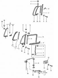 Rubber draairaampje portier T2