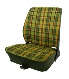Bekleding voor voorstoel groen/geel