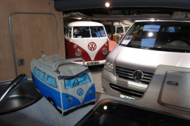 VW bus toilettas blauw