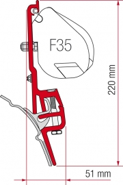 Adapter Kit F45 en F35pro voor VW T4 met Brandrup Toprail