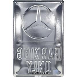 Tin Sign 20x30 Parking Only Mercedes