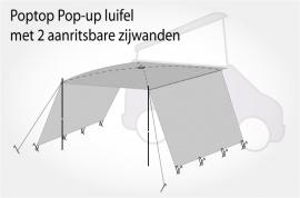 Poptop Pop-Up  luifel met 2 inritsbare zijwanden