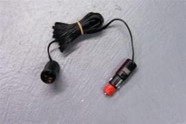 12 volt stekker voor 2 typen aansluitingen met 4 meter snoer en contrastekker