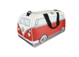 VW Bus sporttas  small  rood-wit