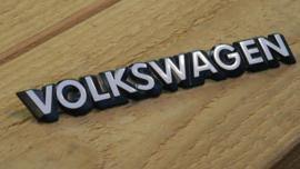 Volkswagen logo/embleem/badge zwart met witte tekst 20cm