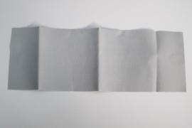 Opstrijkbaar reparatiedoek 12x34 cm grijs