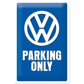 Tin Sign 20x30 VW Parking Only