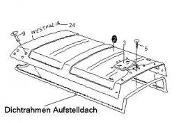 Hefdakrubber T3 Westfalia (ook geschikt voor T2)