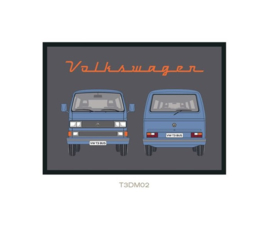 Deurmat T3 rood VW Collection