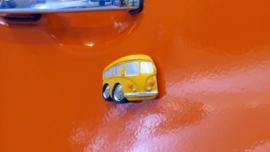Aardewerk magneet VW bus 5 x 4 cm