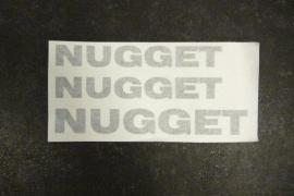 Stickers set 3-delig antraciet Nugget