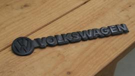 Volkswagen logo/embleem/badge zwart met zwarte tekst 31,5cm