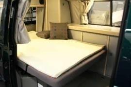 Afritsbare badstof hoes / tijk  voor traagfoammatras 190x120x3.5cm