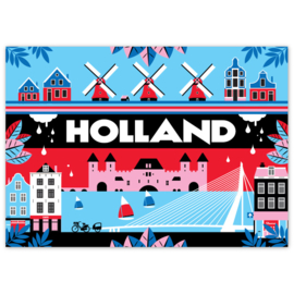 Ansichtkaart Holland Skyline